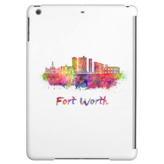 Fort Worth V2 skyline in watercolor Case For iPad Air