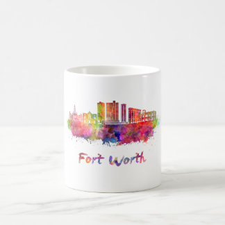 Fort Worth V2 skyline in watercolor Coffee Mug