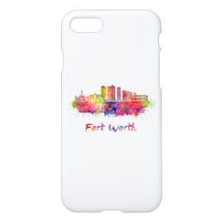 Fort Worth V2 skyline in watercolor iPhone 8/7 Case