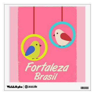 Fortaleza Brazil vintage travel poster Wall Sticker