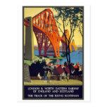 Forth Bridge - Vintage Travel Poster Art Postcard