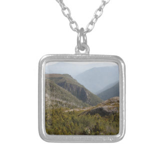 Forth Valley, Tasmanian wilderness Silver Plated Necklace