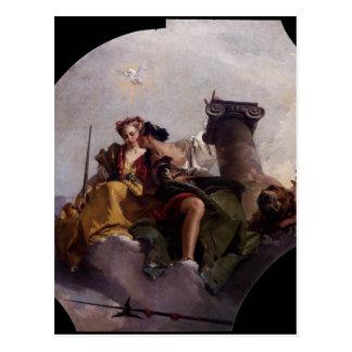 Fortitude and Justice by Giovanni Battista Tiepolo Postcard