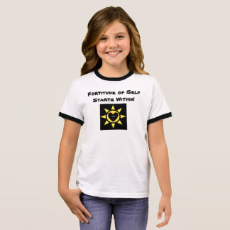 Fortitude of Self Starts Within p123 Ringer T-Shirt