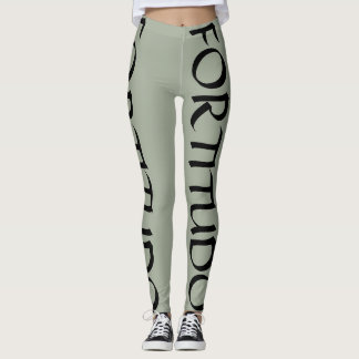 Fortitudo courage strength workout gym leggings