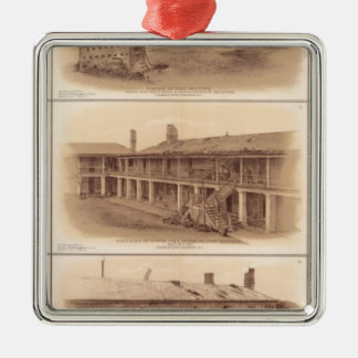 Forts Sumter & Moultrie Metal Ornament