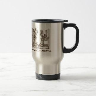 Fortuna vs Sapientia (16th Century Wood Engraving) 15 Oz Stainless Steel Travel Mug