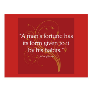 Fortune and Habit Quote Postcard