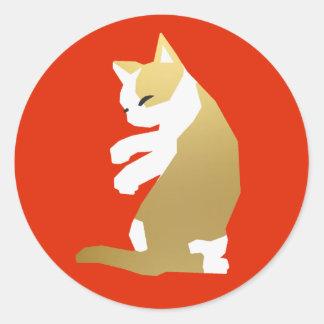 Fortune Cat (Chinese New Year) Classic Round Sticker
