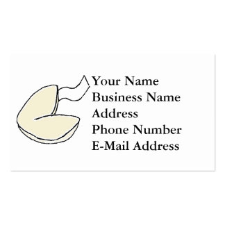 Fortune Cookie Cartoon Business Card