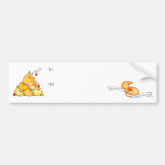 Fortune Cookie Christmas Tree Bumper Sticker