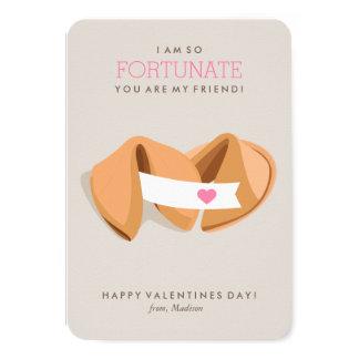 Fortune Cookie Kids Classroom Valentine Card