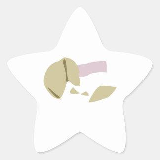 Fortune Cookie Star Sticker