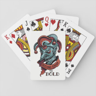 Fortune Favors The Bold Playing Cards