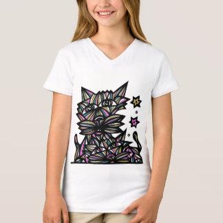 """Fortune Fools"" Girls' V-Neck T-Shirt"