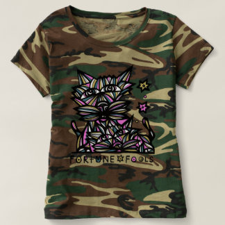 """""""Fortune Fools"""" Women's Camouflage T-Shirt"""