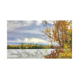 Fortune Lake in Crystal Falls, MI on Canvas