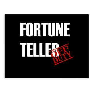 FORTUNE TELLER DARK POSTCARD