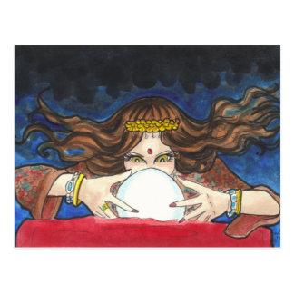 Fortune Teller fantasy circus art postcard print