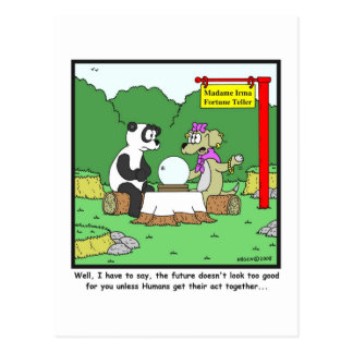 Fortune Teller: Panda cartoon Postcard