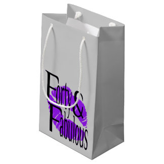 Forty and Fabulous with Hot Purple Lips Small Gift Bag