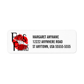 Forty and Fabulous with Hot Red Lips Return Address Label