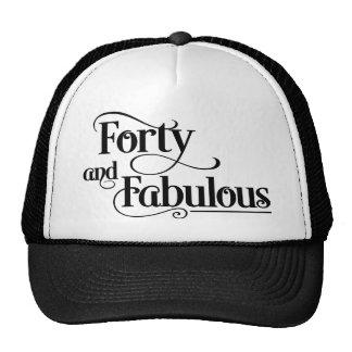 forty birthday mesh hats