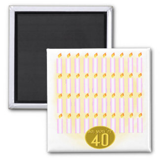 Forty Candles 40th Birthday Gifts Refrigerator Magnet