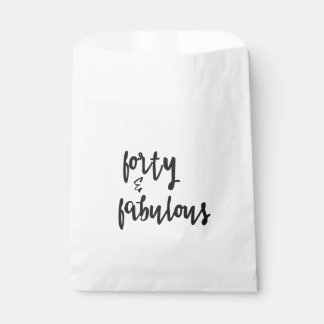 Forty & Fabulous - Fun 40th Birthday Favour Bag