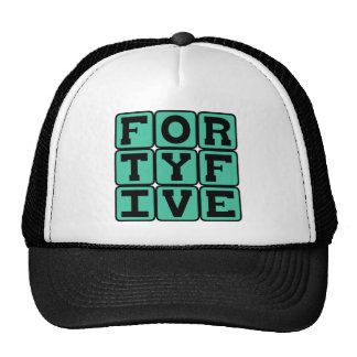 Forty Five, Number 45 Mesh Hats