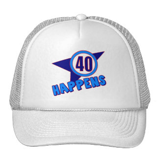 Forty Happens 40th Birthday Gifts Trucker Hat