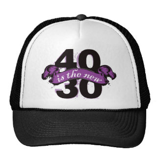 Forty Is The New Thirty - Purple Mesh Hats