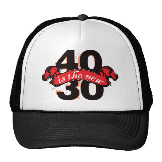 Forty Is The New Thirty - Red Trucker Hat