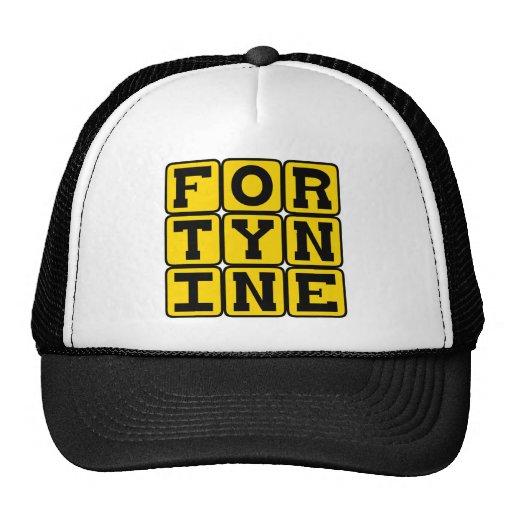 Forty Nine, Number 49 Mesh Hat