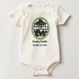 Forty Toad Press Logo, Spreading Stupidity one ... Baby Bodysuit