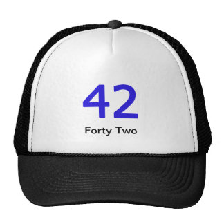 Forty Two Merchandise Mesh Hats
