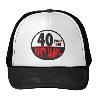 Forty Year Old Party Animal Hat Trucker Hat
