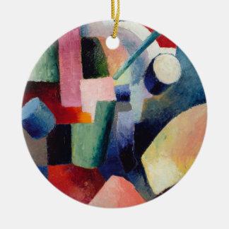 Forum of color round ceramic ornament