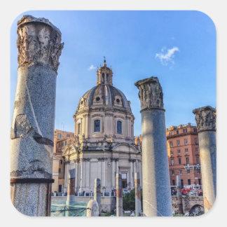 Forum Romanum, Rome, Italy Square Sticker