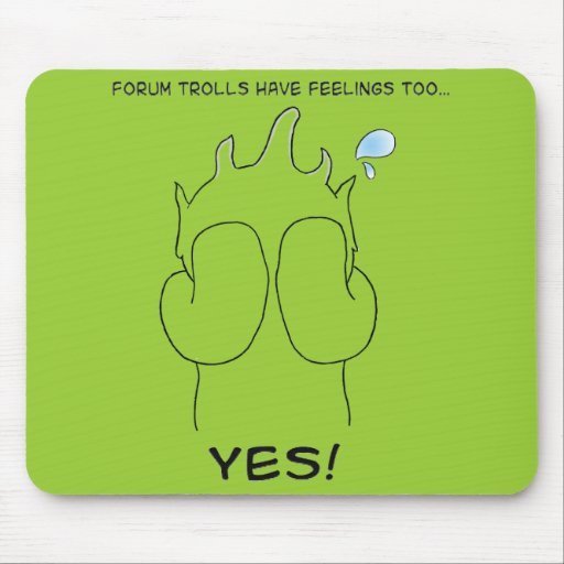 Forum troll mouse pad