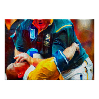 Forward Momentum - Rugby Art On Canvas Poster