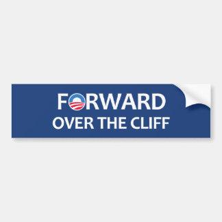 Forward over the cliff bumper sticker