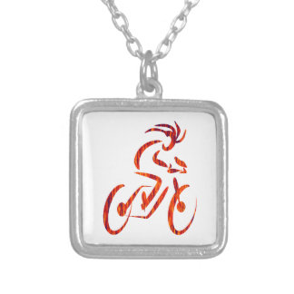 FORWARD THE MOTION SILVER PLATED NECKLACE