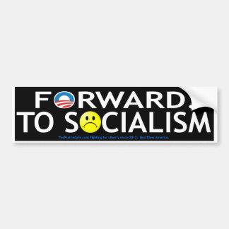Forward to Socialism Bumper Sticker