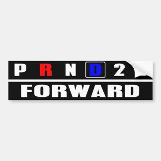 FORWARD WITH DEMOCRATS - Pro-Liberal - Anti-GOP Bumper Sticker