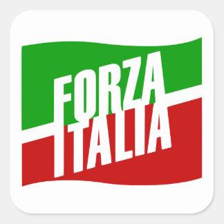 Forza Italia Square Sticker