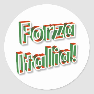 """""""Forza Italia"""" sticker"""