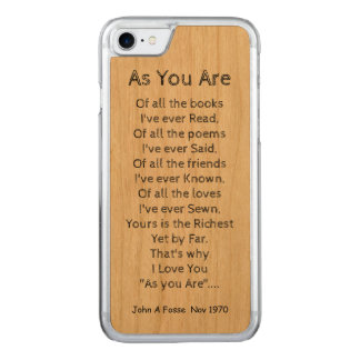 Fosse-A-Poem Carved iPhone 7 Case