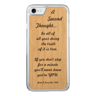 Fosse-A-Poem Carved iPhone 7 Case