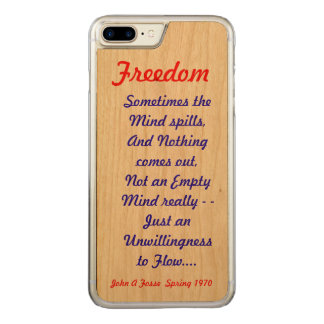 Fosse-A-Poem Carved iPhone 8 Plus/7 Plus Case